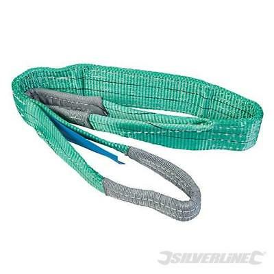 Silverline High Strength Flat Webbing Cargo Sling 2 Tonne Lifting Crane 245056