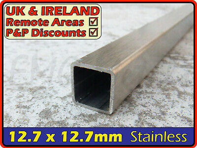 """Stainless Steel Square Tube ║ 12x12 mm⫽1/2"""" ║ box section iron,profile,tubing"""