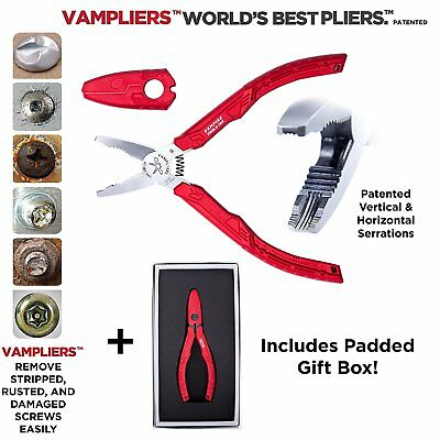 """VamPLIERS 6.25"""" GIFT SET! Stripped, Corroded & Stuck Screw Extraction Pliers"""