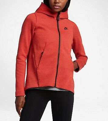 840798e46cee Nike Tech Fleece Women s Full Zip Hoodie Jacket 831709-852 Burnt Orange  Medium