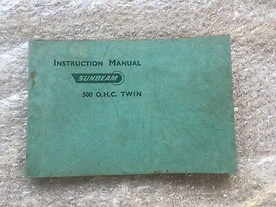 ORIGINAL 1950 Sunbeam S7 S8 Instruction Manual - Nice!
