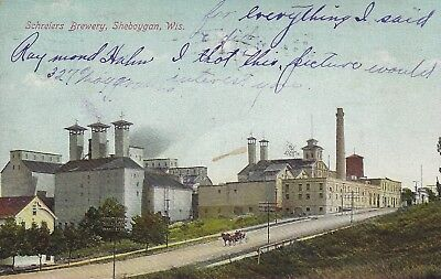 Very Early, Wonderful SCHREIERS BREWERY POST CARD Postmarked May 1908 w/writing