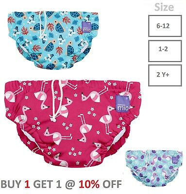 Bambino Mio REUSABLE SWIM NAPPY DEEP SEA BLUE-PINK Baby Toddler Swimming Nappy