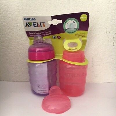 Philips Avent My Easy Sippy Cup, 9 Ounce, Pink/Purple, Stage 2