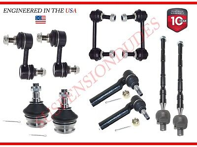 10PC Sway Bar Link Ball Joint Tie Rod End Kit for 05-09 Subaru Legacy Outback