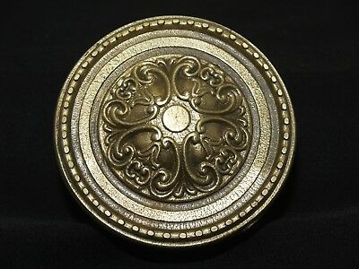 Vintage Greece Solid Brass Large Ornate Door Knob Handle Push/Pull #25