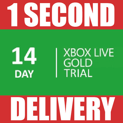 14 Days Xbox Live Membership Code Pass -2 Weeks -Microsoft Xbox One/360 -Instant