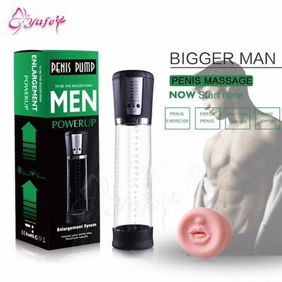 Electric Male Penis Vacuum Pump Auto-Powered Men Strong Suction Air Pressure