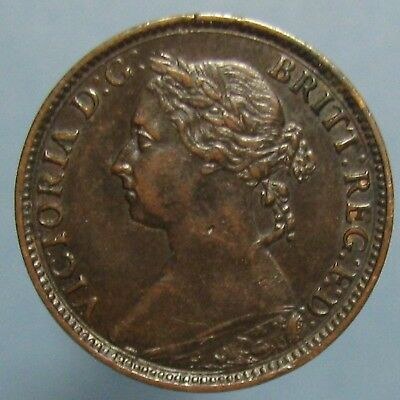 1891 Victoria Farthing - Lightly Circulated with Beautiful Brown Patina