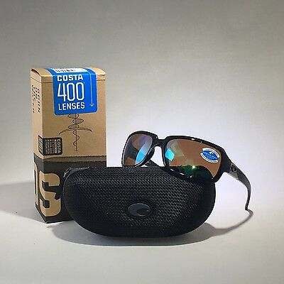 NEW COSTA DEL MAR Sunglasses IB 11 GMGLP ISABELA BLACK GREEN MIR 400G Glass