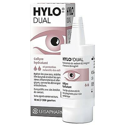 HYLO DUAL Collyre Hydratant 10ml - 300 gouttes