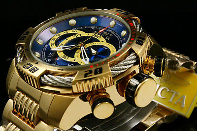 NEW Invicta Men's 50mm Speedway VIPER Gen III 18 K G.P Chrono S.S Bracelet Watch