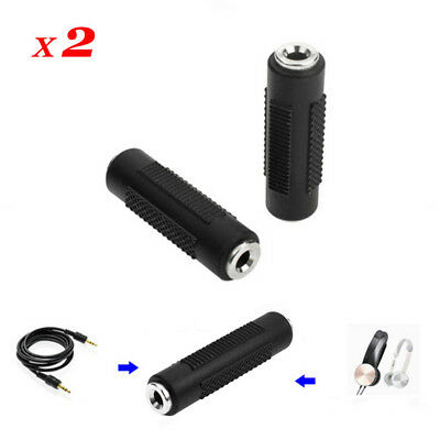 2x Stereo 3.5mm Aux Female to Female F/F Jack Audio Coupler Converter Adapter cn