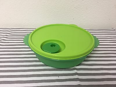 Tupperware Divided Microwave Crystalwave Dish Vented Green 4 Cups New