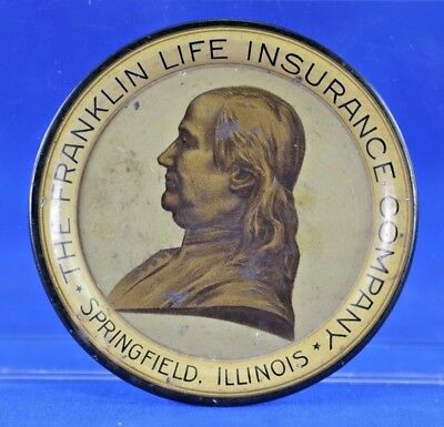 Antique Advertising Tip Tray For The Franklin Life Insurance Co Springfield Il