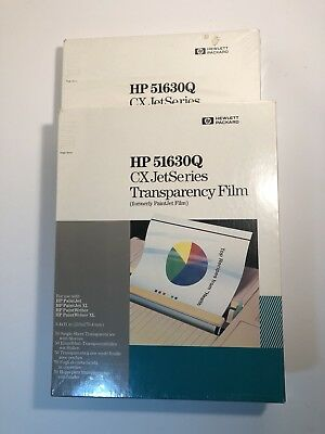 """2 Boxes HP 51630Q 8.5"""" X 11"""" Transparency Film 50-Sheets New"""