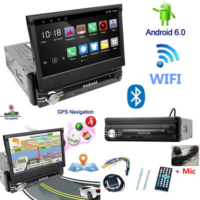 "7"" HD Full Touch Car Stereo Radio FM AM GPS Receiver Wifi Bluetooth Android 6.0"