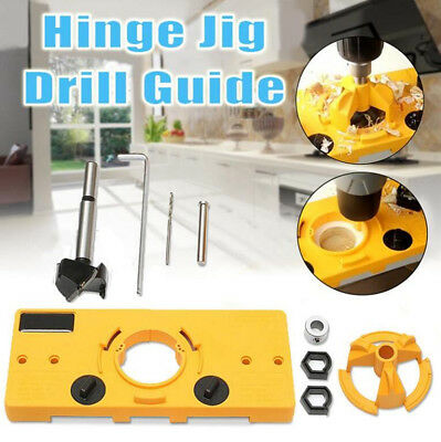 Consealed Hinge Jig Drill Guide 35mm Cabinet Door Installation Hole Cutter Tool