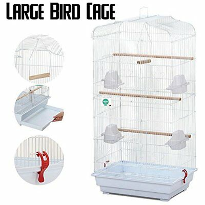 Large Metal Bird Cage With Handle For Budgie Parrot Canary Cockatiel, 18x14x36