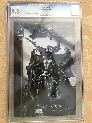 Comic Spawn Issue #1 Black & White Edition White Pages CGC 9.8. Very Rare!