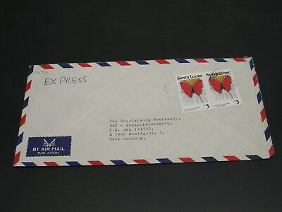Sierra Leone 1989 expres airmail cover to Germany *31513-1