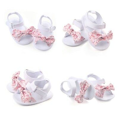 Newborn Baby Girls Summer Sandals Princess Soft Sole Crib Shoes Prewalker 0-12M