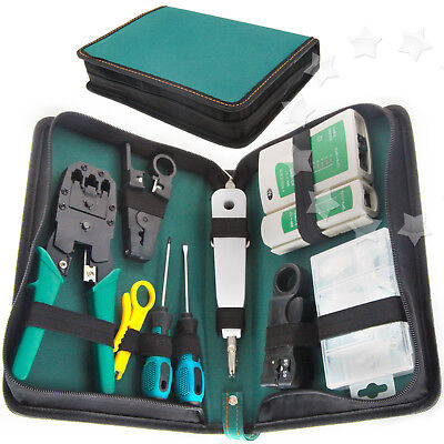 RJ45 RJ11 Cable Hand Tool Crimper Network Tool Kit Stripping Pliers Knife