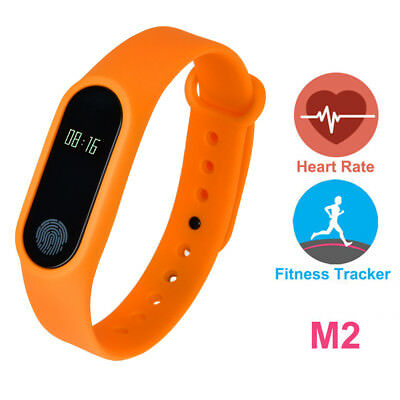 M2 Bluetooth Pulsera inteligente Smart Watch Reloj Ritmo Cardiaco Deporte Correr