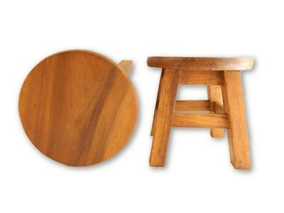 Childs Childrens Wooden Stool - Plain Top Step Stool.