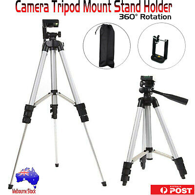 Professional Camera Tripod Stand Mount + Phone Holder for Phone iPhone Samsung 7