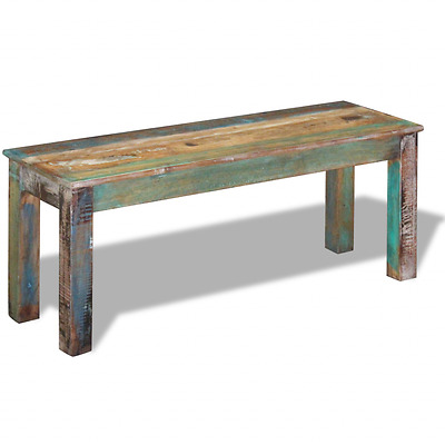 110cm Reused Recycled Solid Wooden 2 Seater Bench Lounge Stool Table Seat Chair