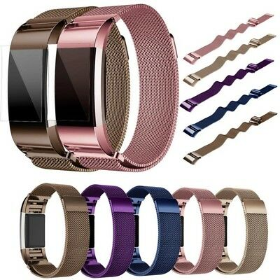 For Fitbit Charge 2 Replacement Band Strap Silicone / Sports / Milanese / Steel