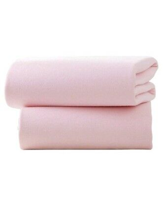 1*1G     Clair De Lune Fitted Sheets for Moses Baskets - Pack of 2 (Pink)