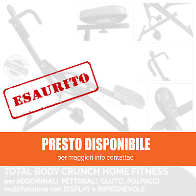 TOTAL POWER BODY CRUNCH con DISPLAY COMPUTERINO HOME FITNESS PALESTRA ADDOMINALI