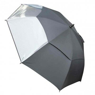 Masters Tour Dri Gust Resistant Umbrella - Black with Clear Panel