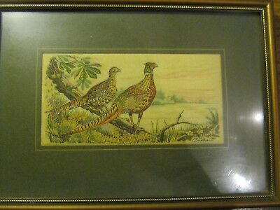 4 cash's silk pictures mallard great horned owl grouse pheasant hunting interest