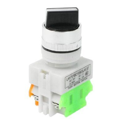 """AC 660V 10A 2 Position Rotary Selector Switch 22mm 7/8"""" DPST"""