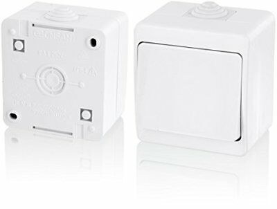 IP54 Moisture-Proof on/off switch – All-in-one – Frame + Insert + Cover (Series