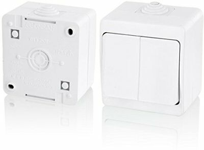 IP54Moisture-Proof Series Switch Pure–All-in-one frame + Insert + Cover