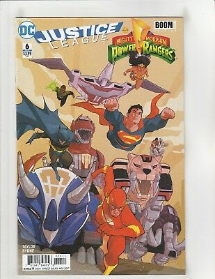 Justice League/Mighty Morphin Power Rangers #6 NM- 9.2 DC/Boom! Studios