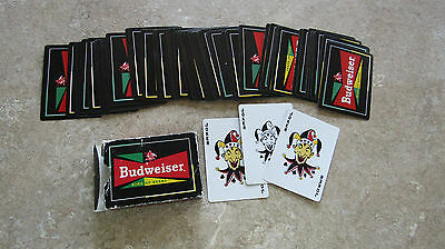 Budweiser Plastic Coated Playing Cards-Made in U.S.A.