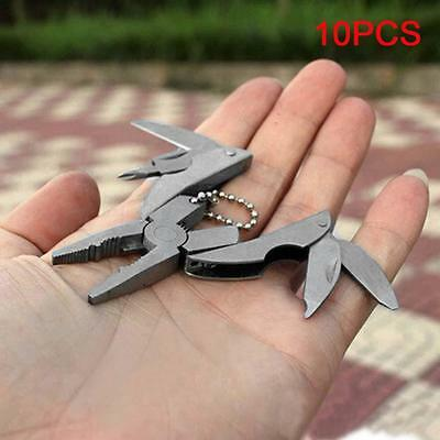 Portable Multi Function Folding Pocket Tools with Pliers Keychain Screwdriver FT