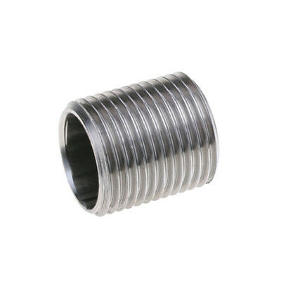 "STAINLESS STEEL 316 BSP RUNNING NIPPLE - 1/8"" To 4""  -  RATED 150lb"