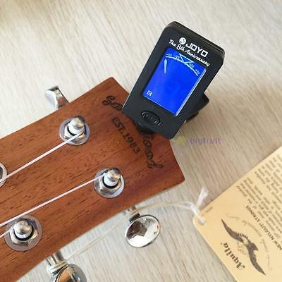 Acoustic Guitar LCD Clip-on Digital Electronic Chromatic Tuner Bass Ukulele FT