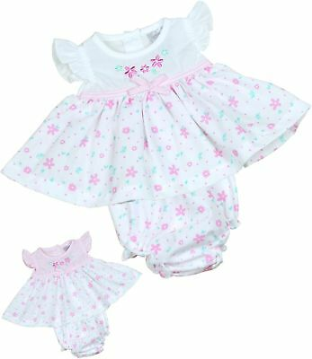 BabyPrem Premature Tiny Baby Clothes Pink & White Dresses 3/5 5/8lb Dress