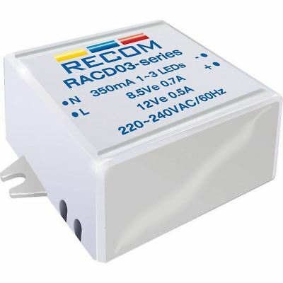 Recom Lighting 21000128 3W AC-DC LED Power Supply 3-12V 350mA