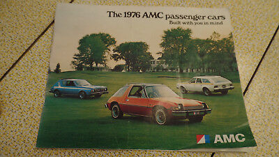 1976 AMC Passenger Cars Sales Brochure Full Color Pacer Gremliin Hornet Matador