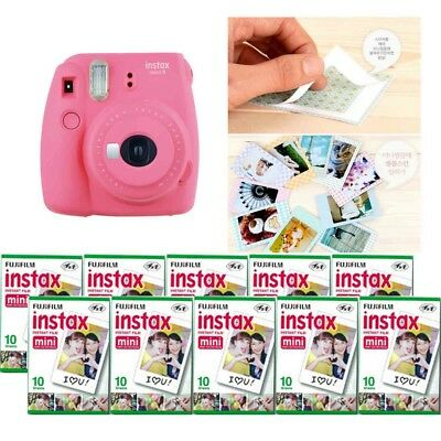 Fujifilm Instax Mini 9 Camera Flamingo Pink 10 Packs Fuji Film 100 Photo 8