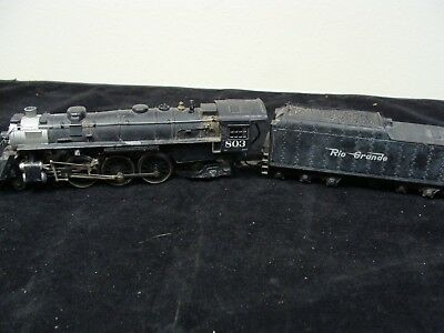 Mantua HO Scale ALL METAL 4-6-2 Steam Engine & Tender Rio Grande Used