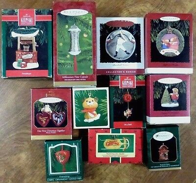 Lot of 11 HALLMARK Keepsake Ornaments in Boxes  New & Used Christmas #4